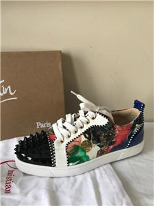 715963995a22 Christian Louboutin Woman LOUIS JUNIOR SPIKES Stud Sneakers Shoes Multi  Print