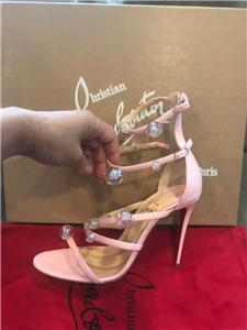 8a079cd5634 Details about Christian Louboutin ATONANA 100 Ball Studded Strappy Heels  Sandals Shoes $1095