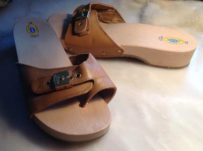 Vtg Dr Scholl S Original Wood Exercise Sandals 10 Thongs