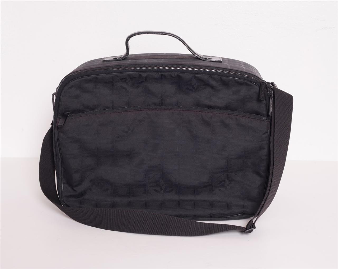 3b85f7b440f5 CHANEL Black Canvas MONOGRAM CC LOGO Overnight Carry-On Case Luggage ...