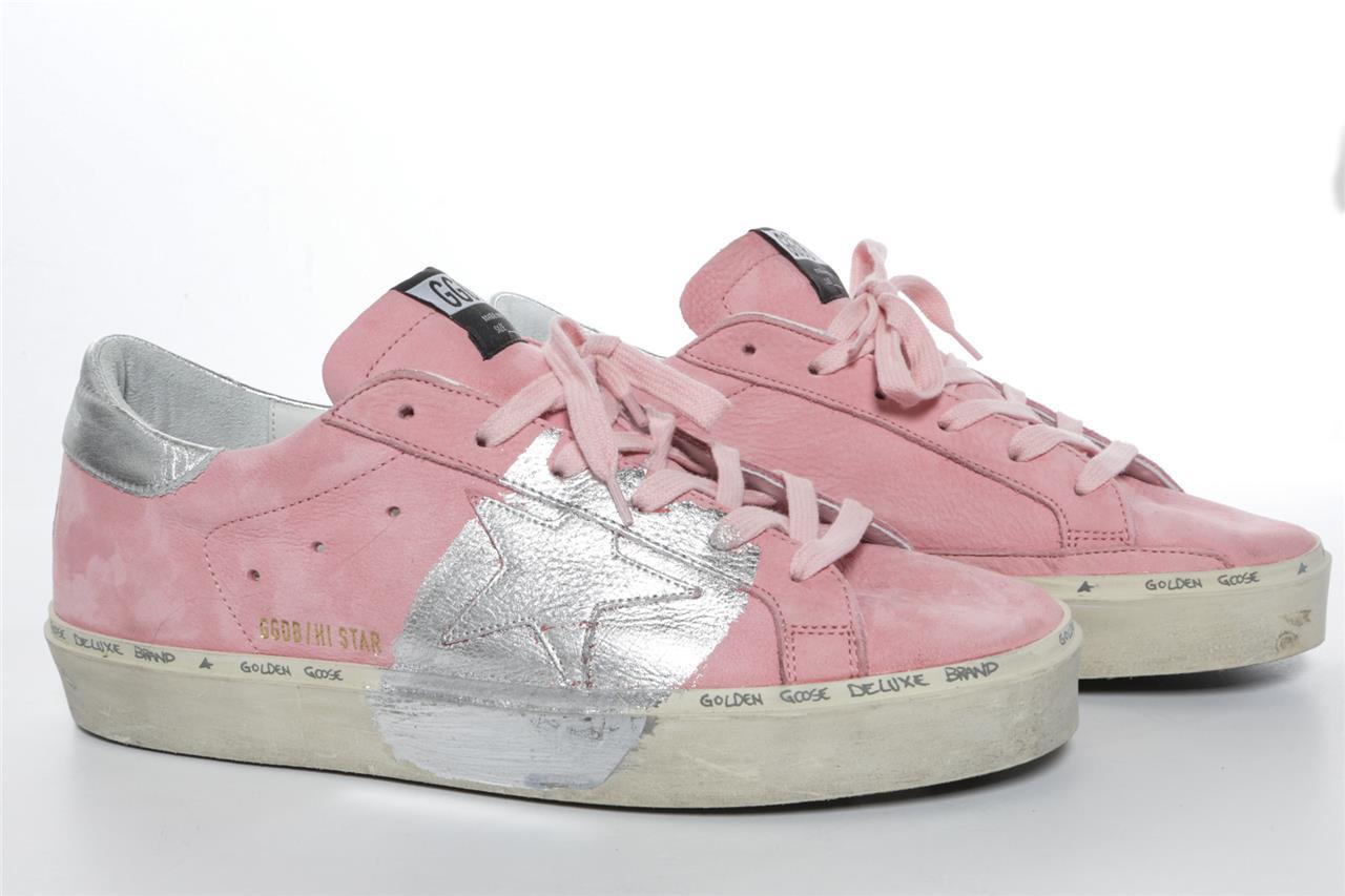 golden goose pink shoes