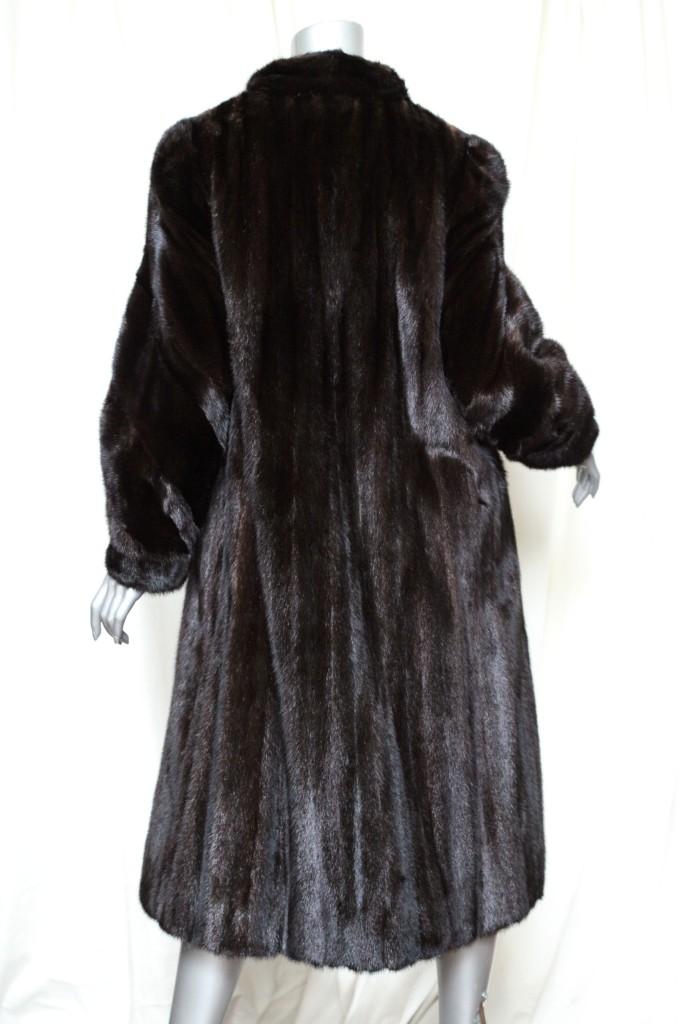 Black Diamond Mink Fur Nordstrom Long Womens Brown Full Length Coat