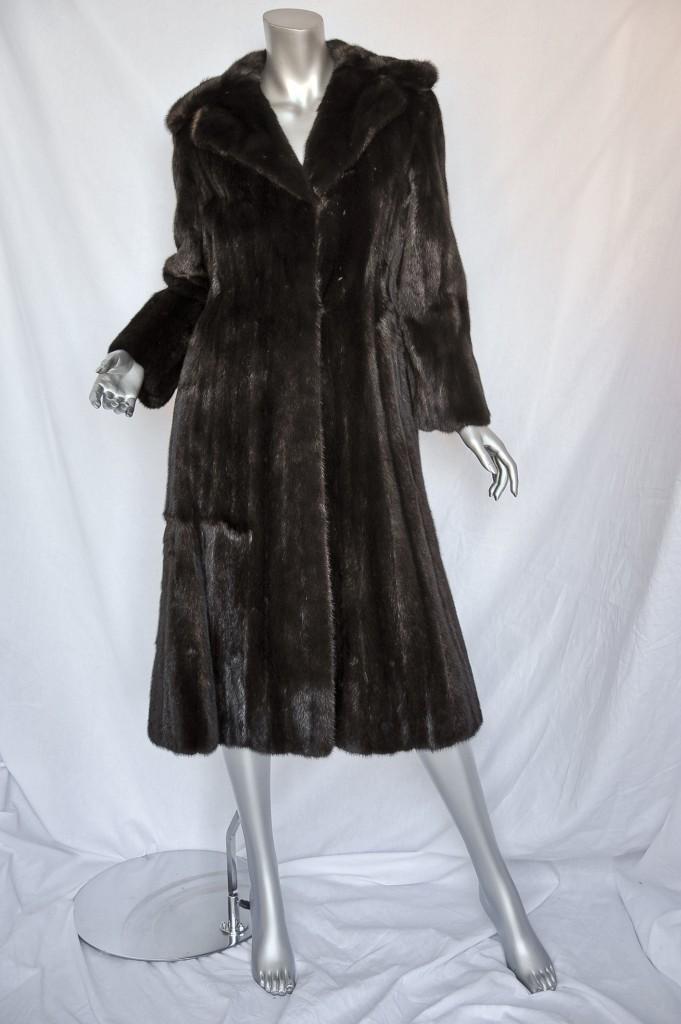 Mink Coat Value >> Details About I Magnin Brown Vintage Mink Fur Coat Long Lustrous Jacket Beauty M