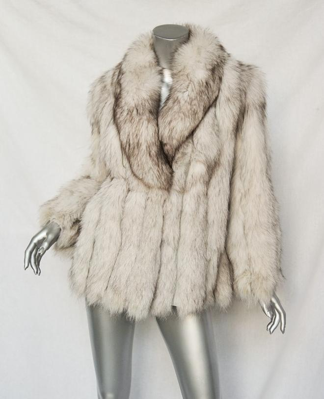Mink Coat Value >> Womens White Brown Tipped Vintage 1930 S Fox Fur Leather Panels
