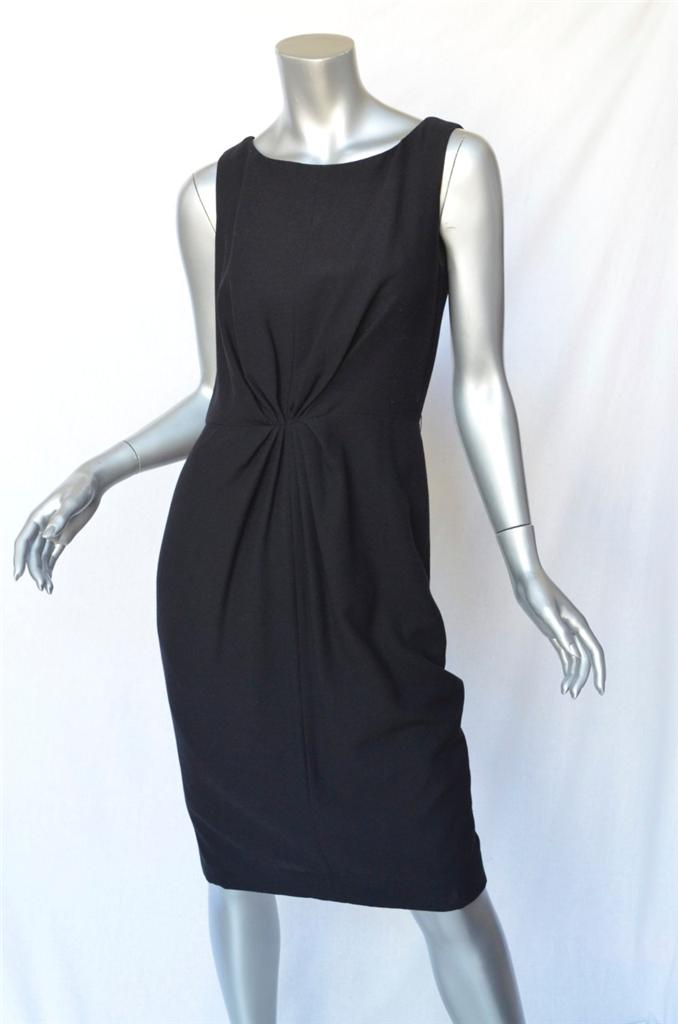 This Carolina Herrera Black Dress With A Cute Ruched Waist Is Ultra Versatile Wear It Casually Flat Stry Sandals Or Ballet Flats To Work