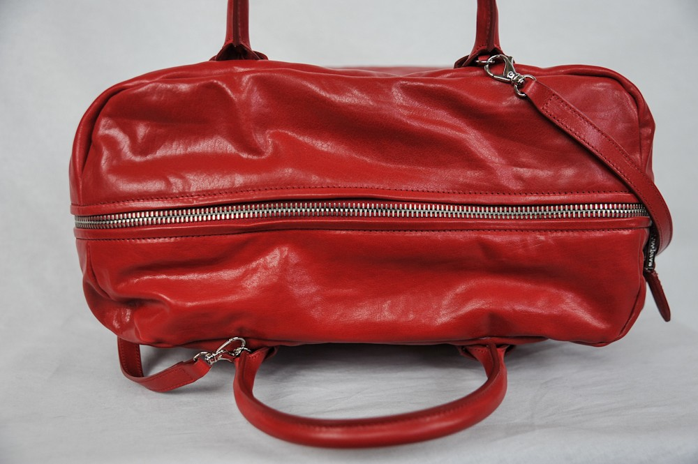 Marc Jacobs Red Prince Antonia Large Leather Satchel Tote