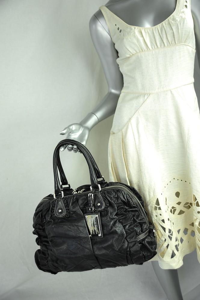 851858d09f DOLCE   GABBANA Black MISS ROUCHE Ruffle Handbag Crossbody Shoulder ...