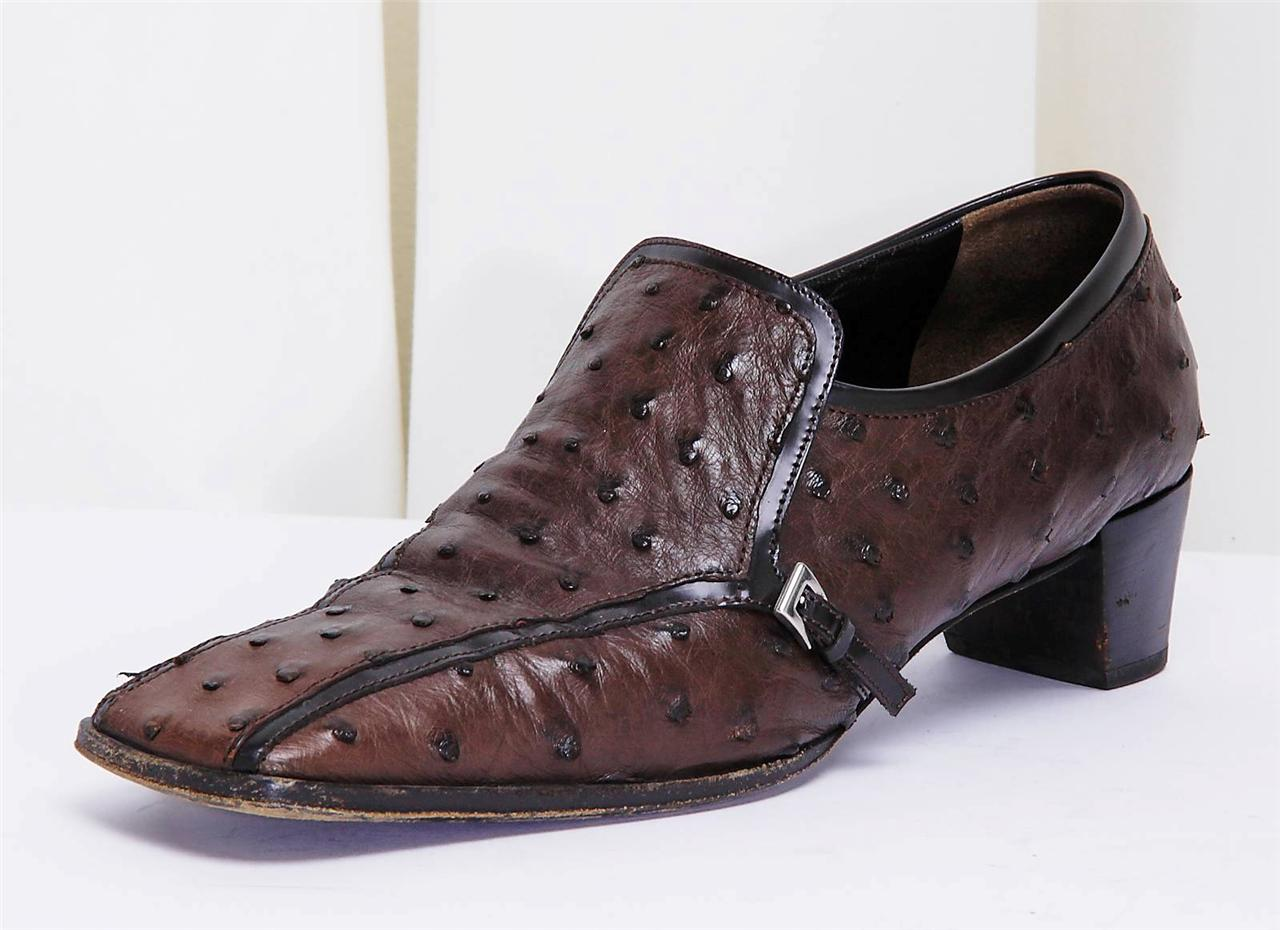 Ostrich Slip On Shoe Women