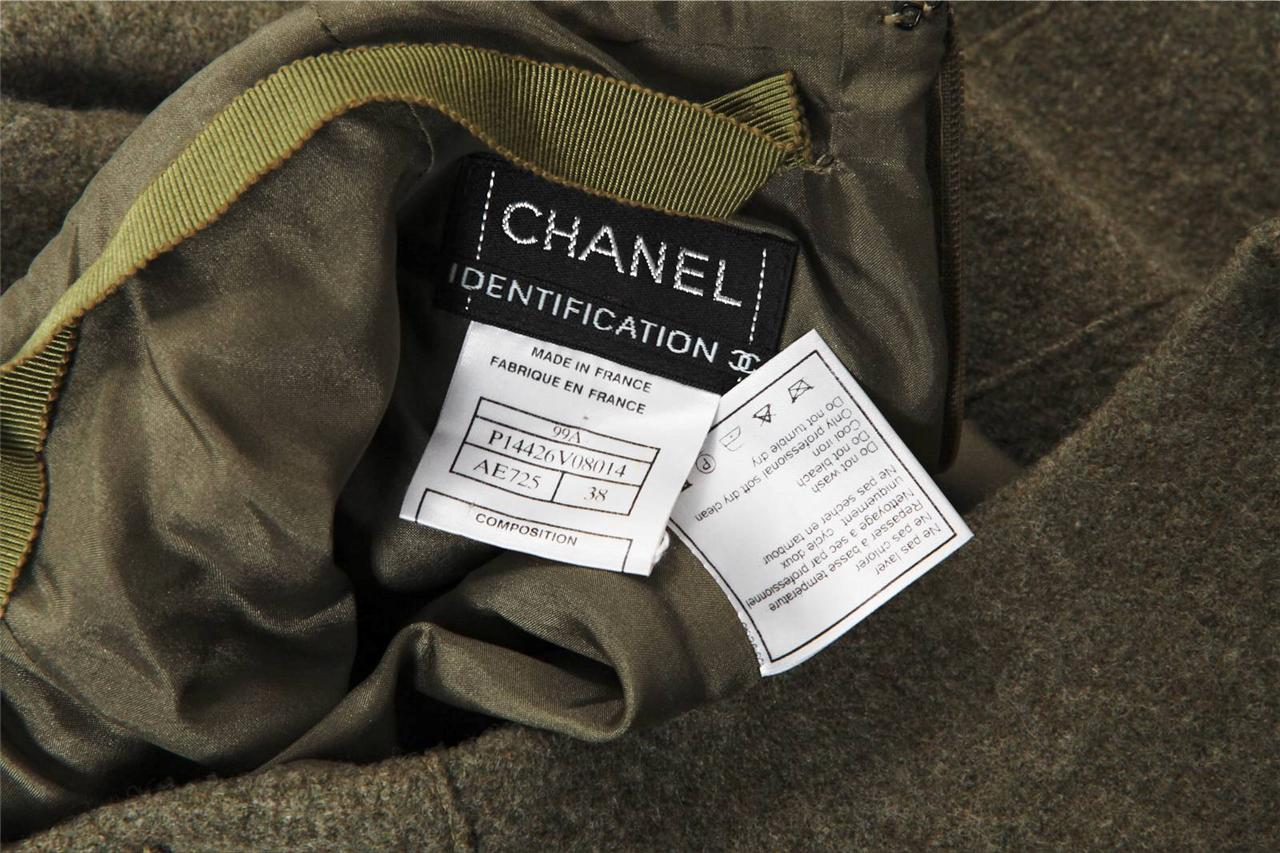 9455e71590 Chanel Identification da Donna Verde Lana Canotta Top+Gonna a Tubino ...