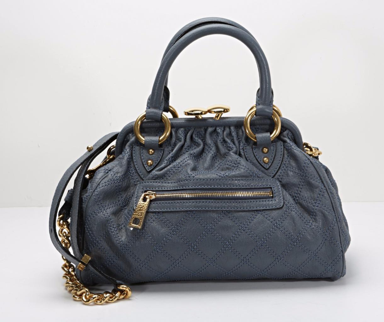 150d32d78643 Details about MARC JACOBS Womens Blue-Cloud MINI STAM Handbag Doctors Bag  Purse NEW  1250