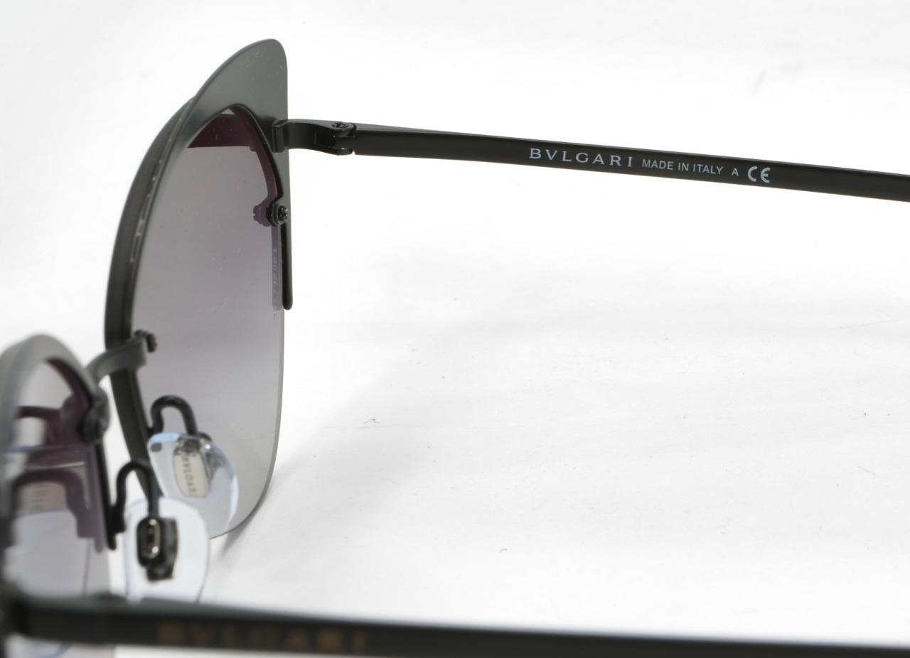 8d3a5957e7df9 BVLGARI 6096 2028 8G Womens Matte-Black Cateye Gradient Lens ...