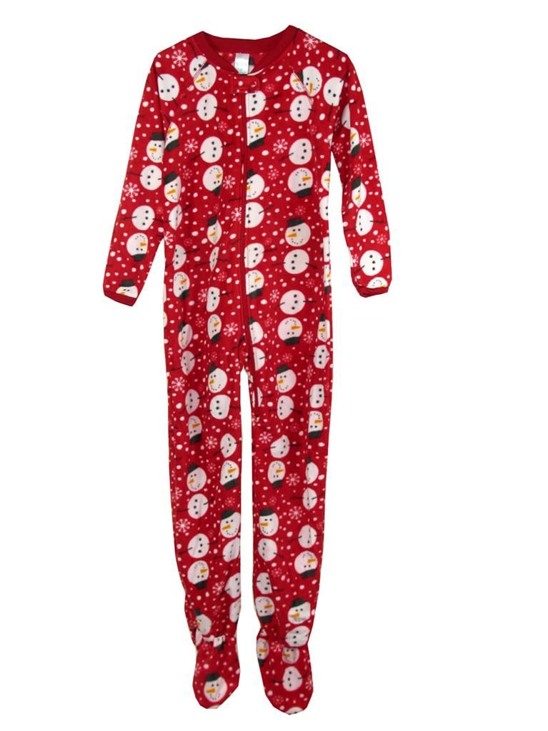 J22 Girls Size 6 7 Snowman Onesie Blanket Sleepsuit Footed