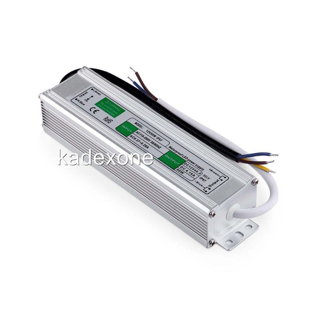 waterproof led driver 12 v volt ip67 power supply transformer 10 w 200 watt ebay. Black Bedroom Furniture Sets. Home Design Ideas