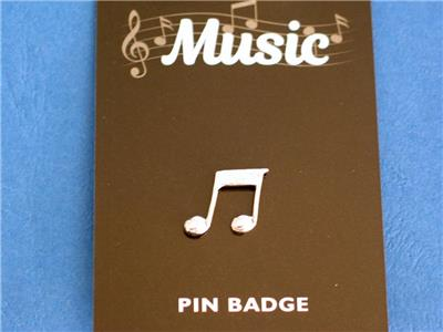 Classical Guitar English Pewter  Pin Badge Brooch Made in UK