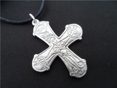 Viking Swedish Crucifix Pewter Pendant