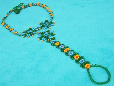 """""""DAISY CHAIN"""" NATIVE AMERICAN BEADED ANKLE & FOOT JEWELRY ..."""