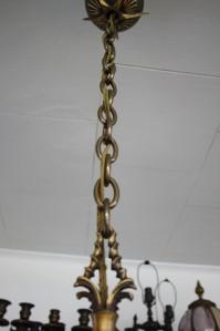 CIRCA 1920s FRENCH ART DECO BRONZE & AMBER ART GLASS SLIP SHADE