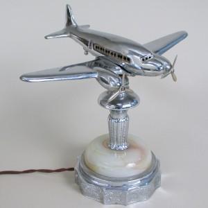 Art deco vintage airplane lamp
