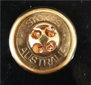 5 x High Quality Metal Stokes Australia Round Gold Jacket Blazers Buttons