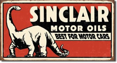 Antique Style Sinclair Motor Oil Metal Sign Old Fashioned Garage Wall Gift USA