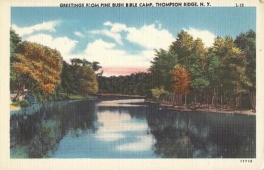 Postcard Pine Bush Bible Camp, Thompson Ridge, NY | eBay