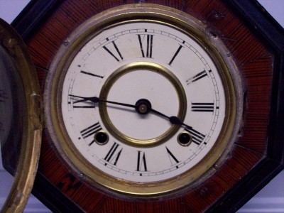 Antique Grain Painted Schoolhouse Regulator Clock eBay
