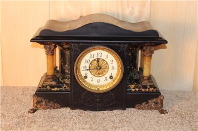 Antique Seth Thomas Shasta Style Adamantine Mantle Clock
