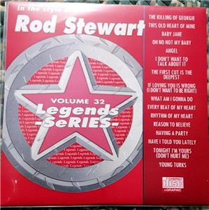 LEGENDS KARAOKE CDG ROD STEWART CLASSIC ROCK OLDIES #32 16