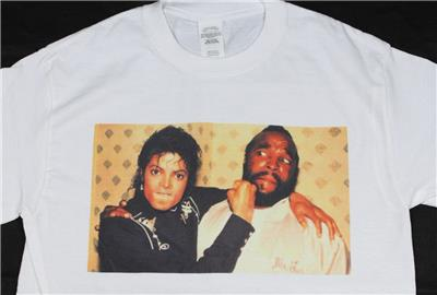 7dc62be0a Michael Jackson & Mr. T White T-Shirt Size S-3XL Supreme Vintage Retro  Thriller. Click images to enlarge