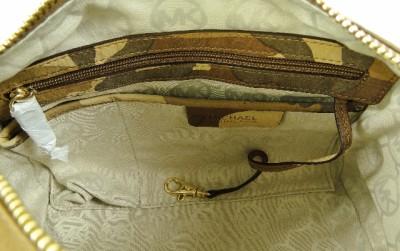 b49c5caf5588 Michael Michael Kors Grayson Small Leather Satchel Camo Luggage on ...