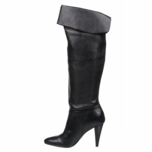 Calvin Klein Catrice Womens Knee High Boots Black Leather 6
