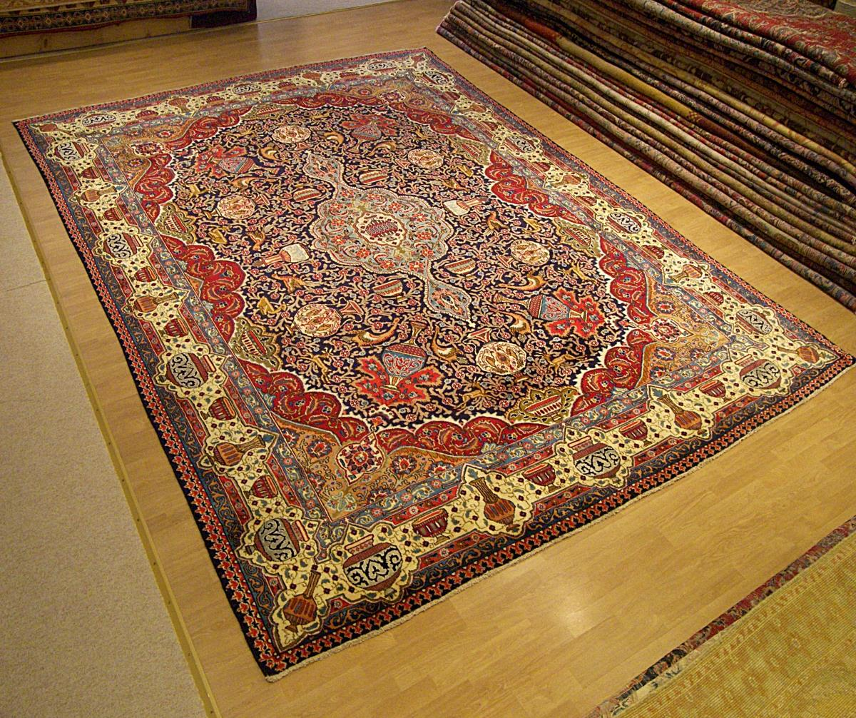 10 X13 Signed Handmade Antique Persian Archaeological