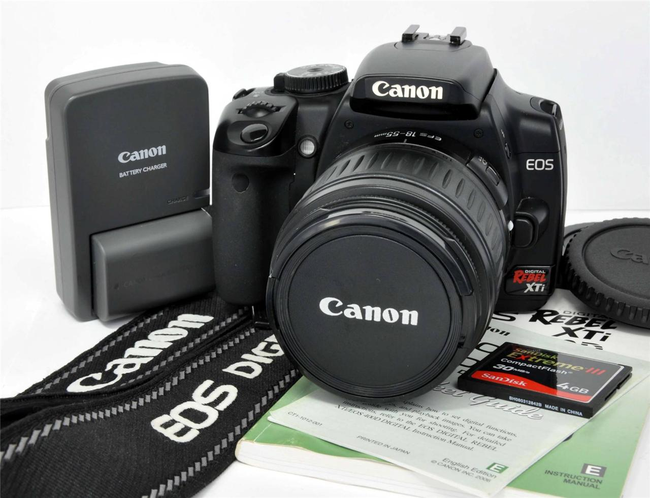 CANON 1236B001 - EOS DIGITAL REBEL XTI CAMERA SLR SOFTWARE ...
