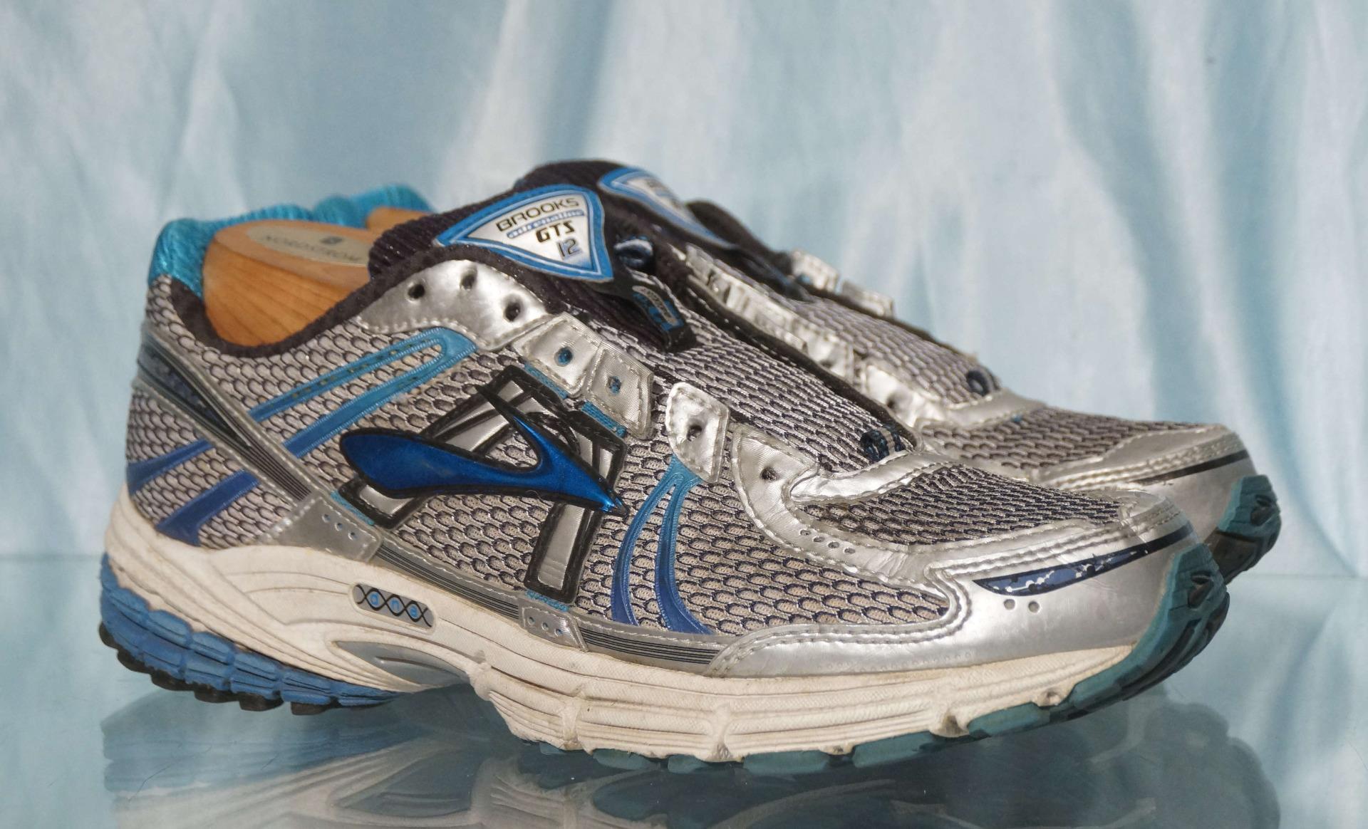 e275522421b Blue Silver Black BROOKS GTS Adrenaline 12 Running Shoes US Sz 9 UK ...