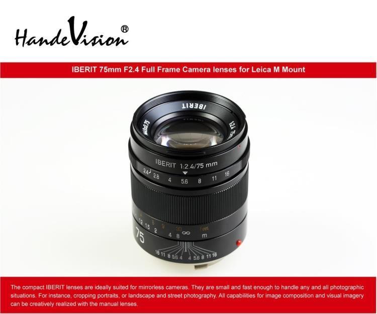 Handevision IBERIT 75mm F2.4 Full Frame Lens Lenses for Leica M ...