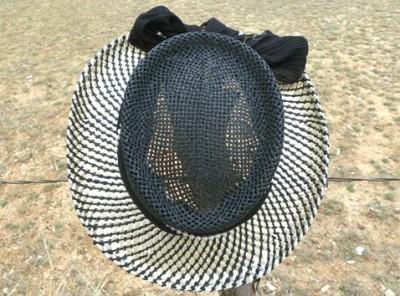 5ea20912e31 SCALA Toyo GAMBLER Golf Western Straw Cowboy Hat Black on PopScreen