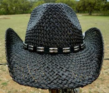 3897ae186 Peter Grimm SMOKE Rock n Roll Western Straw Cowboy Hat on PopScreen