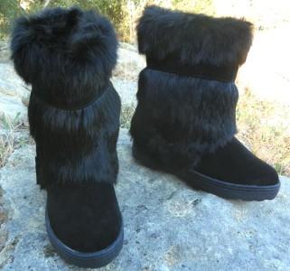 New Bearpaw Sonjo Ii Real Rabbit Fur Exotic Winter Apres