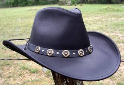 e3f0ce3b6c870 USA MADE Henschel Hats HIKER Black Dakota Cowhide Leather Western Cowboy  0304-14