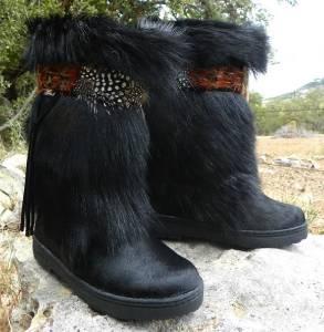 New Bearpaw Kola Ii Winter Exotic Goat Fur Sheepskin