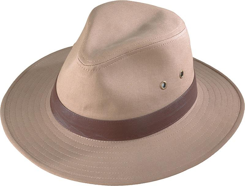 8d3cec26b42 Image is loading NEW-Henschel-Crushable-Cotton-Canvas-Outback-Fedora-Hat-