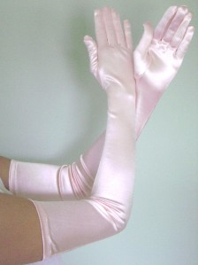 Opera Long Length Stretch Satin Gloves Black Ebay