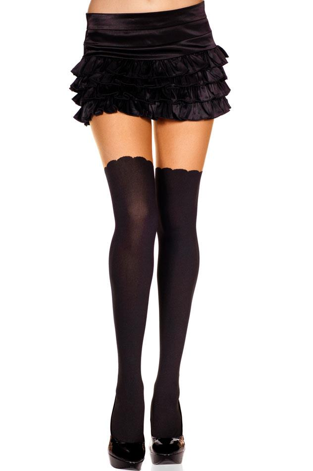 styles spandex pantyhose w a faux thigh high
