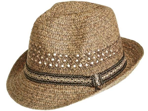 bd9b42ea HJ1657 Brown Braid Straw Mens Fedora Trilby Hat on PopScreen