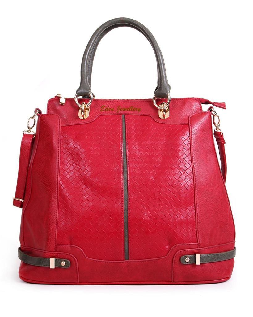 stylish segolene paris handbag 100 leather embossed tote bag red burgundy olive. Black Bedroom Furniture Sets. Home Design Ideas