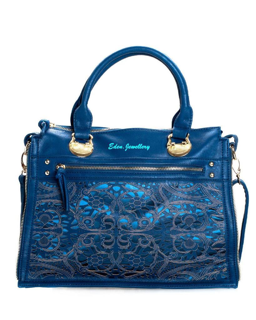 segolene paris handbag 100 leather cut out accent satchel bag super gorgeous ebay. Black Bedroom Furniture Sets. Home Design Ideas