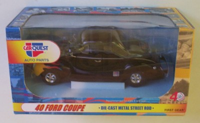 1940 Ford Coupe Hot Rod Black First Gear Diecast Car