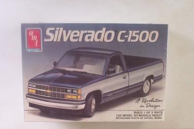 Chevy Silverado C1500 Pickup Truck 6276 AMT 125 Model Kit SEALED