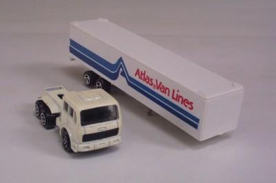 Semi Truck Cab n Trailer ATLAS VAN LINES Majorette 1100 Diecast Toy