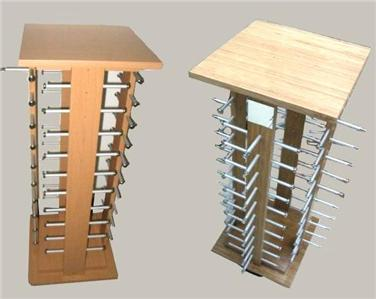 WOODEN DELUXE SUNGLASS DISPLAY RACK HOLDS 40 PAIR